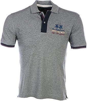 La Martina Man Polo S/s Piquet Stretch-camiseta Hombre gris gris ...