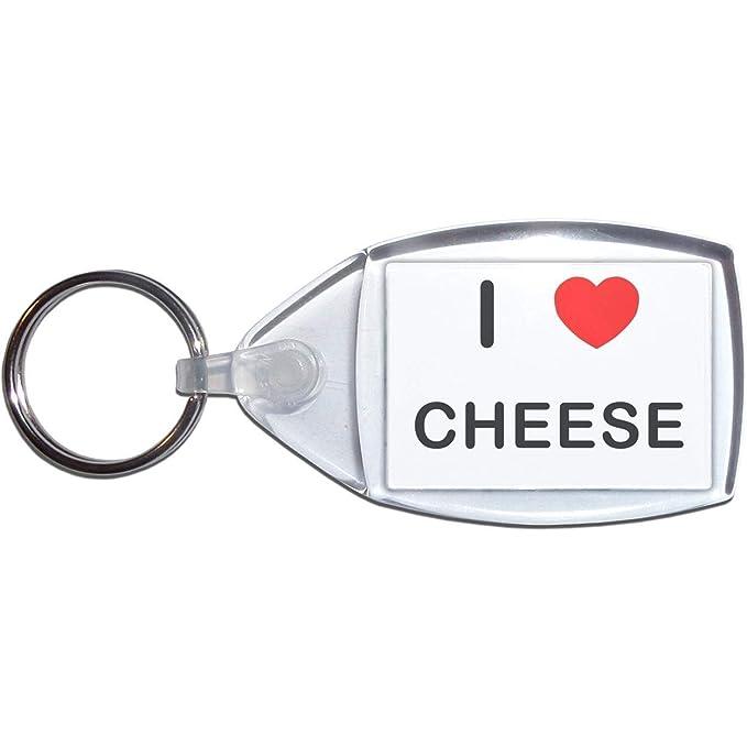 BadgeBeast.co.uk I Love Cheese - Llavero plástico: Amazon.es ...