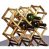 Folding wood wine rack alcohol beer care drink bottle holders solid wood shelf