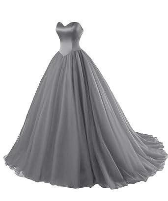 finest selection 4dc90 81a5c LuckyShe Ballkleider Lang Prinzessin Damen Abendkleider 2018