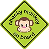 Cheeky Monkey 3D Car Sign, Baby on Board sign made of thick EVA foam