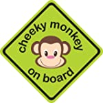 Cheeky Monkey 3D Car Sign, Baby on Bo...