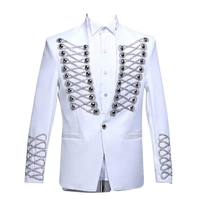 Traje De Hombre Chaquetas Slim Blazer Corte Wear Fit Evening Joven Deslumbrante Flash Design Tuxedo Wedding Party Chaqueta De Los Hombres: Amazon.es: Ropa y ...