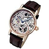 Rougois Rosarita Gold Mechanical Rose Gold Skeleton Watch RS10005
