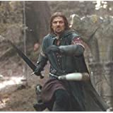 """S0116 Movie Lord of the Rings LoTR Boromir sword with wall plaque satin finish blade 38"""" Silver edition"""