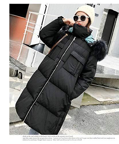 Cappotto Nero Sciolto Ayguste Invernale Da E Piumino Lungo Donna Con q4BdU4x