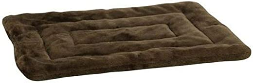 Slumber Pet Plush Crate Dog Mat, X-Large, 35-Inch, Chocolate