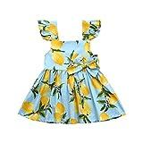 Karoleda_Baby Girls Clothes Girl Newborn 1st Birthday 3 Pcs Outfits Romper+Tutu Dress+Headband Sky Blue