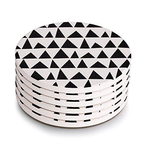 Lifver 6-Piece Absorbent Stone Coaster set, drink spills coasters