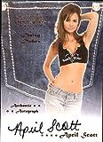 2012 Bench Warmer Daizy Dukez Autographs #4 April Scott - NM-MT