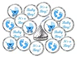 324 Blue Its a Boy Baby Shower Favors Stickers For Baby Shower Or Baby Sprinkle Party, Baby Shower Kisses Stickers, Baby Shower Blue Favors, Baby Shower Labels, Its a Boy Kisses