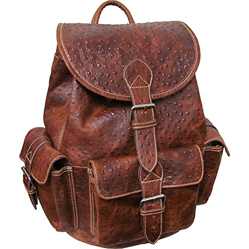 amerileather-vacationer-jumbo-leather-backpack-brown-ostrich-print