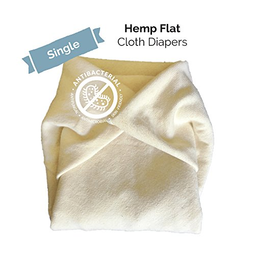 Baby Tooshy's Organic, Unbleached, Super Absorbent, Large Flat Diapers - Perfect for Overnight. Customizable 1-Size-System. THE BEST, THIRSTY Diaper Flats - use from Newborn to Potty Training. Single from Baby Tooshy