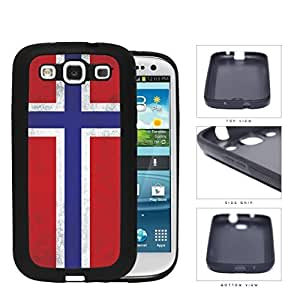 Norwegian Flag Dirty Grunge Rubber Silicone TPU Cell Phone Case Samsung Galaxy S3 SIII I9300