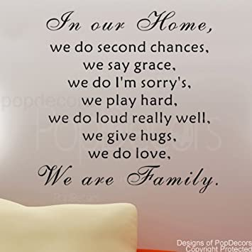 Amazoncom Popdecors We Are Family Words Quote Phrase