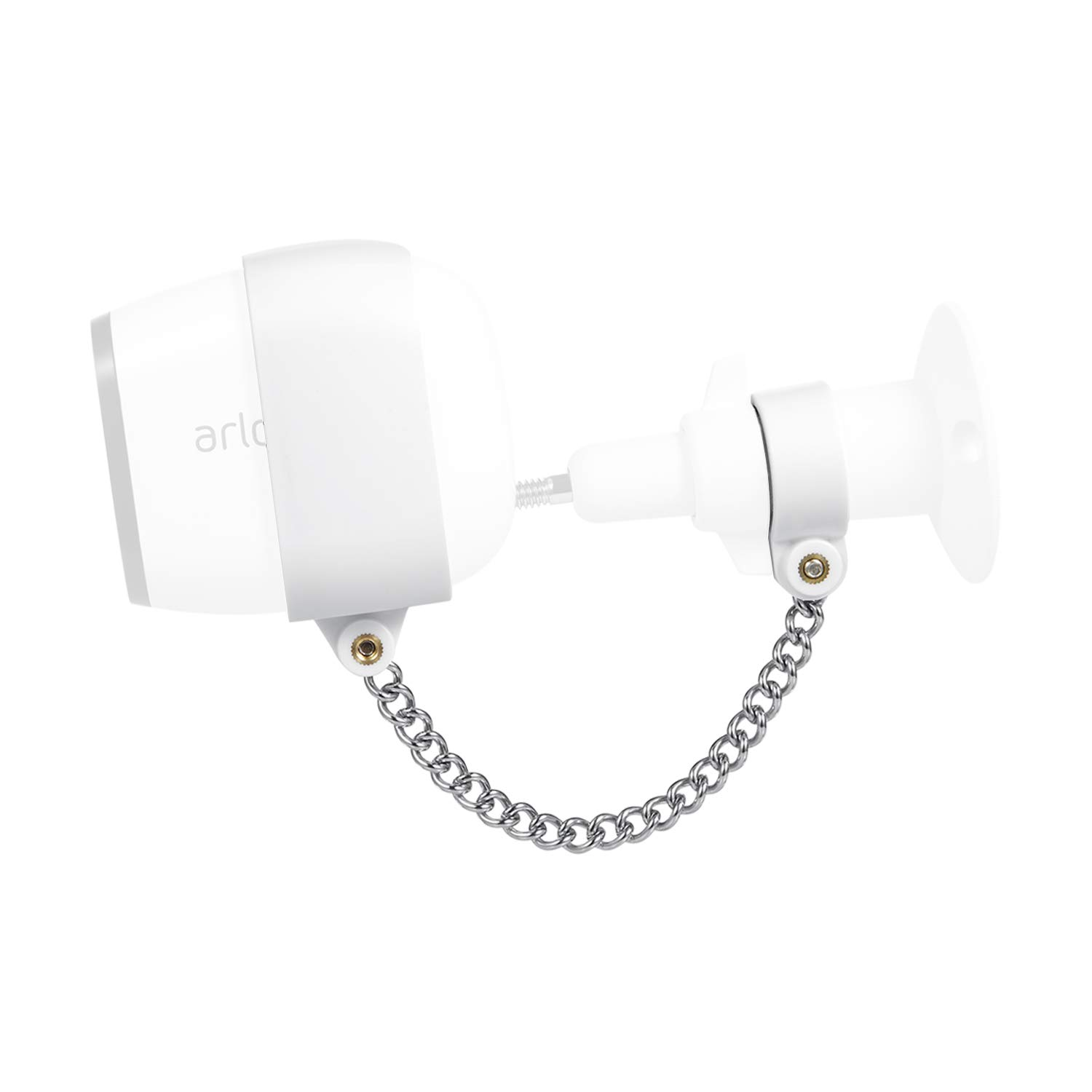 Wasserstein Anti-Theft Security Chain Compatible with Arlo Pro and Arlo Pro  2 - Extra Security for Your Arlo Camera (1-Pack, White)