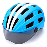 Jinxin Bicycle Helmet, Protective Goggles Bicycle Helmet Full Cover Shell Enhanced Safety 3D Cutting Comfort Pad