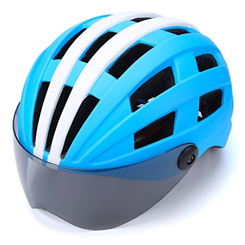 Jinxin Bicycle Helmet, Protective Goggles Bicycle Helmet Full Cover Shell Enhanced Safety 3D Cutting Comfort Pad by Jinxin