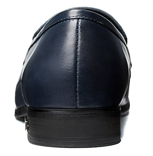 Opp Mens Designer Classic Scarpe Antiscivolo Formali Blu