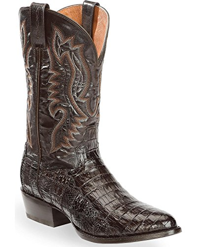Dan Post Round Boots - Dan Post Men's Everglades Chocolate Belly Caiman Cowboy Boot Round Toe Chocolate 10.5 D
