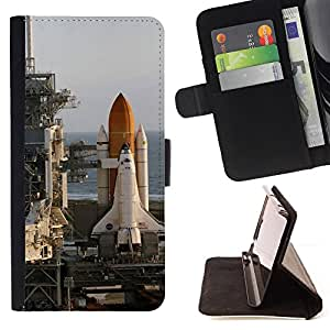DEVIL CASE - FOR Apple Iphone 6 PLUS 5.5 - Rocket launch center - Style PU Leather Case Wallet Flip Stand Flap Closure Cover