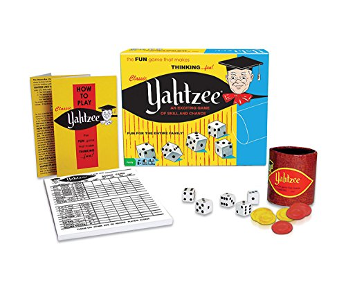 Mozlly Multipack - Winning Moves Games Classic Yahtzee - An Exciting Game Of Skill And Chance - 9.8 x 8 x 3 inch - Family Board Game (Pack of 3) - Item #S119025_X3 by Mozlly