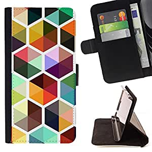 Jordan Colourful Shop - bee colorful cube repetitive For Apple Iphone 5C - Leather Case Absorci???¡¯???€????€?????????&Ati