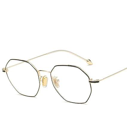 BiuTeFang Gafas de Sol Mujer Hombre Polarizadas Pie Perla Metal Gafas de Alambre Marco Tendencia del