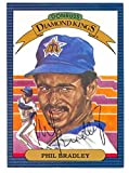 Phil Bradley autographed Diamond King Donruss Baseball Card 1986 Seattle Mariner Ball Point Pen - Autographed Baseball Cards
