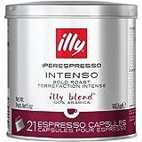 illy Coffee, Intenso iperEspresso Capsule, Dark Roast Espresso Pods, Compatible with illy iperEspresso Machines, (21 ct), 140