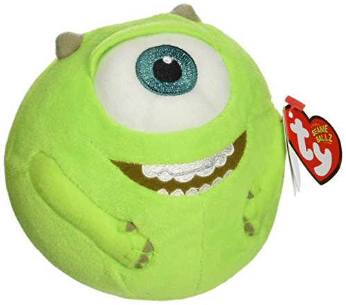 TY Beanie Ballz Mike Green Eyeball Plush]()