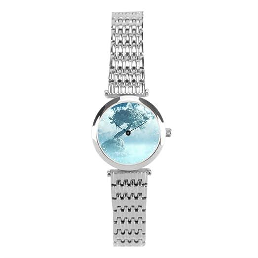winlighting idylic de niebla de las mujeres mejores relojes de acero inoxidable plata: Amazon.es: Relojes