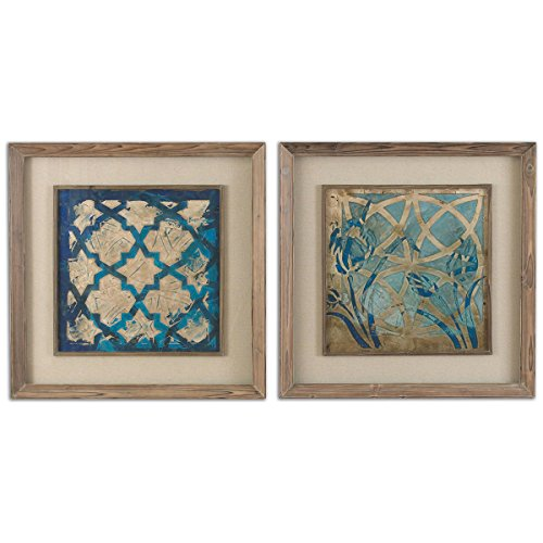 Uttermost 41512 Stained Glass Indigo Art (Set of 2)