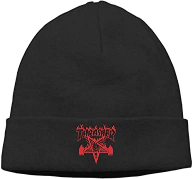 Sweet-Heart Thrasher Skull Hats Gorro De Punto Gorro Negro: Amazon ...