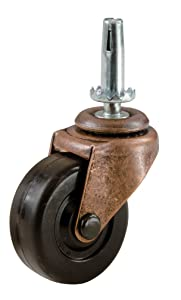 Shepherd Hardware 9347 1-5/8-Inch Medium Duty Stem Caster, 2-Pack