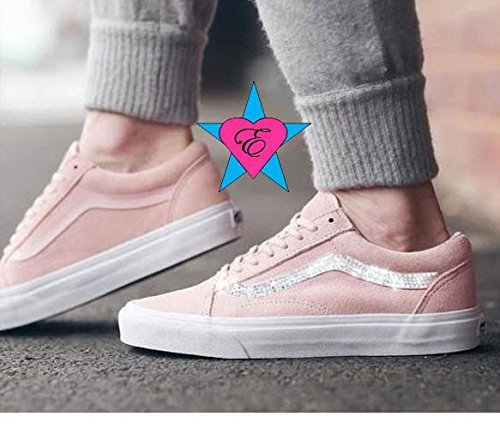 Custom Crystal Bling Rhinestone Pink Vans by Eshays