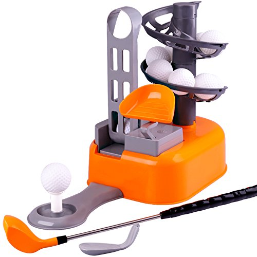 iPlay, iLearn Golf Toys Set, Golf Ball Game, Sports Gaming Clubs, Learning, Active, Early Educational, Outdoors Exercise Toy for 3, 4, 5, 6, 7 Year Olds Kids, Toddlers, Boys, Girls (Color May Vary)]()