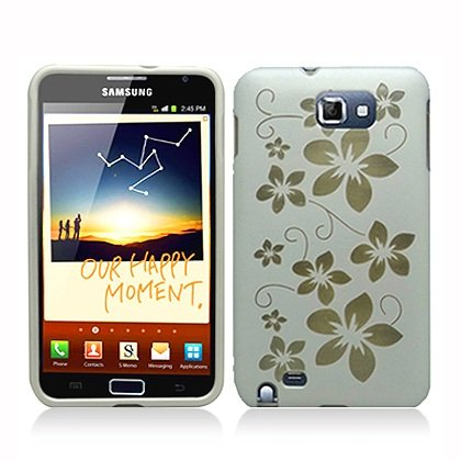 FOR Samsung N7000 I717 Galaxy Note Accessory - Hawaii Flower Design Hard Protective Case Cover + Lf Stylus Pen