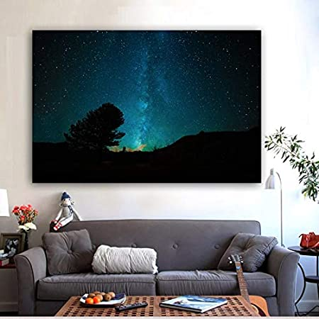yaoxingfu Sin Marco Canvas ng Night Sky Stars Space Cuadros Carteles e Impresiones Decoración para el hogar Arte de la Pared Imágenes para la habitación SIN Marco 60x90cm: Amazon.es: Hogar