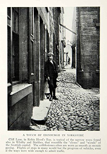 1933 Print Cliff Lane England Yorkshire Town City Historical Image Street NGMA3 - Original Halftone Print from PeriodPaper LLC-Collectible Original Print Archive