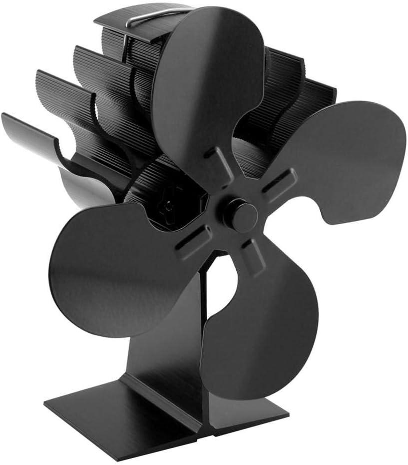 MODGS Ventilador De Horno De Aire Caliente De 4 Palas, Ventilador De Chimenea, para Estufa De Leña/Chimenea Classic