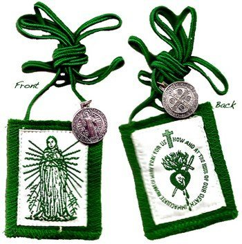 (Immaculate Heart of Mary Green Scapular - Regular)