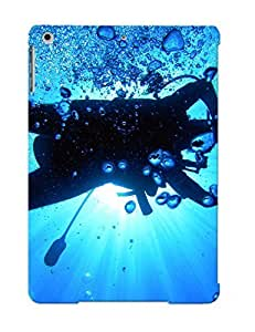 CkyOSpH22eGVjI Awesome Scuba Diving Diver Ocean Sea Underwater Flip Case With Fashion Design For Ipad Air As New Year's Day's Gift