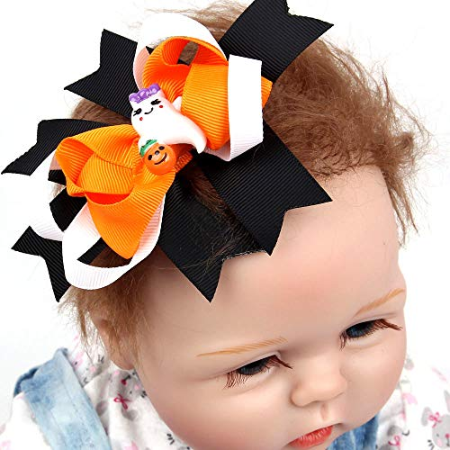 Hot Sale! Halloween Bowknot Toddler Baby Girls Cute Hairpin Headdress Hair Accessories For Outdoors & Daily Headwear (Black) -
