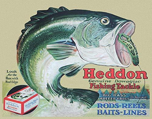 Desperate Enterprises Heddon Fishing Tackle - Frogs Tin Sign, 16