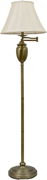 D cor Therapy PL1598 59″ Antique Brass Swing-arm Floor Lamp