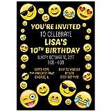 Emoji Smiley Happy Birthday Party Invitations