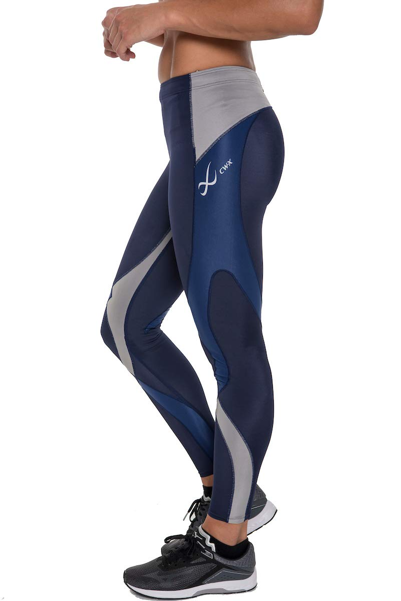 CW-X Women's Mid Rise Full Length Stabilyx Compression Legging Tights, Navy/Grey/Blue Limited Edition, X-Small by CW-X (Image #6)