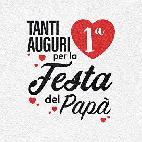 Tanti Per Rosa Papà Prima Body Auguri Manica Corta Festa La Del Neonato OOqAwFxr4