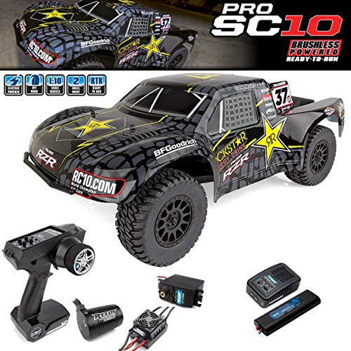 (Team Associated 70015C ProSC10 Rockstar Ready to Run Brushless 2WD Short Course Truck Combo, with Battery/Charger)